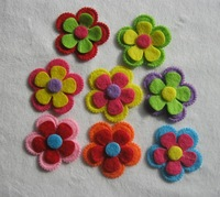 DIY Felt flower accessories colorful fascinators ornaments wool non-woven flower 200pcs per lot free shipping