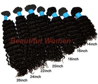 "5pcs/lot 14""-26"" 100% Brazilian Virgin Human Hair Extensions Deep Wave Weft Natural Color 100g Free Shipping 7788"