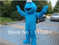 New Adult Size Professional   SESAME STREET COOKIE MONSTER     Mascot Costume Fancy Dress Free Shipping