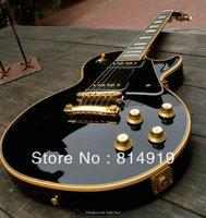 Classic Black Custom Shop Ebony Electric Guitar Free Shipping