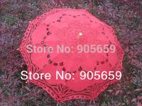 (30 pcs/lot) Handmade 38'' Dark Red New Arrive Out-door Wedding Party Umbrellas