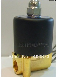"Zn Alloy Parts Electric Solenoid Valve Water Air N/C 1/4"" DC12V/24V AC220V(China (Mainland))"