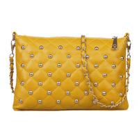 Free shipping Women Bags 2013 women's fashion shoulder bag personality rivet plaid chain bag
