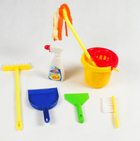 Child cleaning toys tools toy mop bucket shovel brush 7 piece set 0.3