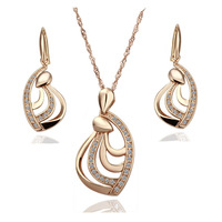 18K Gold Plated Health Wedding Jewelry Sets Free Shipping Quality Guaranteed Rhinestone Made with Austrian Crystal S135