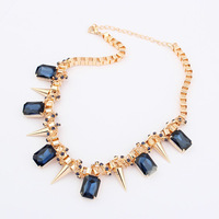 Min Order 15$ Free Shipping New Arrival Punk Style Crystal Necklaces Fashion Good Quality Wholesale Hot HG0047
