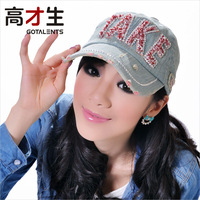 Spring female cowboy hat,diamond edging baseball cap, female summer snapback