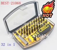 Free shipping !  BT-21068 ratchet precision screwdriver bit sets set kit for maintain repair laptop ipad mobile phone iphone