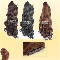 Free shipping Super fashion women's long wavy beautiful women's ponytail