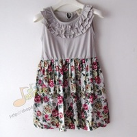 Hot sale Fashion summer new arrival  child dress tank dresses  suspender  children's clothing 100% cotton