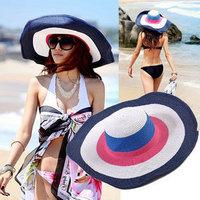 ladies hats Sun summer beach big along strawhat sun hat sunbonnet beach cap hat female