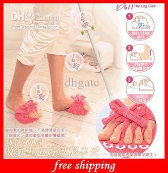 Beautiful Cute Slimming Slippers Coral Fleece HOT Weight Loss Leg Slim Half Sole Slipper Shoes Pink