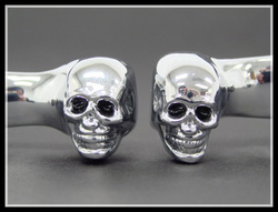 CHROME SKULL BRAKE CLUTCH LEVERS for 96-07 Harley Road King Glide Electra Ultra(China (Mainland))