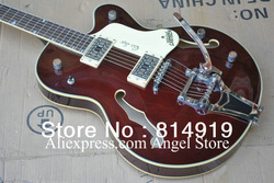 Wholesale 6120 Jazz Hollow Body brown Electric Guitar with Bigsby Tremolo(China (Mainland))