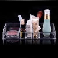 Free shipping 22.8x9x5cm Fashion Clear Acrylic Crystal Cosmetic Organizer Makeup Case Holder Storage Box Gift