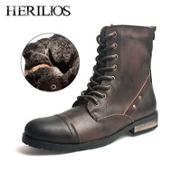 free shipping Herilios fashion men's boots trend vintage boots fashion outdoor martin boots high snow boots