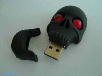 New Valentine's day gift creative cartoon blue Ghost head usb stick pen drive 4GB/8GB/16GB/32GB N2