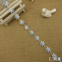 "Pretty White/ Blue Daisy flower venise lace trim 1/2""w, DIY  Craft"