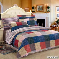 2013 New arrival!! Big promotion!!! Quality cotton printing bedding set  home bedding(4 pcs) with free shipping