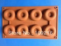 1pcs Green Good Quality 100% Food Grade Silicone Chocolate Mold/Muffin Cupcake Pan 8-Doughnuts (HY1-104) DIY Mold