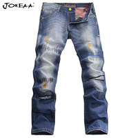 True Brand Original  Designer Embroidery Copper nail Decorated Stereo Men Denim Jeans Streeet Fashion Low rise Skinny