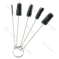 D19+1 Set Tattoo Cleaning Brush Kit Tip For Tube Machine Grip Airbrush Spray Gun