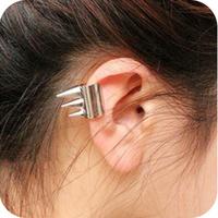 72046 fashion accessories rivet earrings gold opening earrings