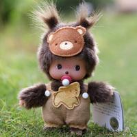 Giving birthday gift MONCHHICHI lovers doll baby15cm bear