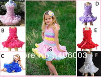 dresses new fashion 2013children kids  summer baby girls headband tutu skirt clothing sets