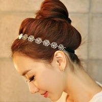 Hair accessory hair accessory cutout rose hair maker ribbon style camellia quality rubber band star version exquisite