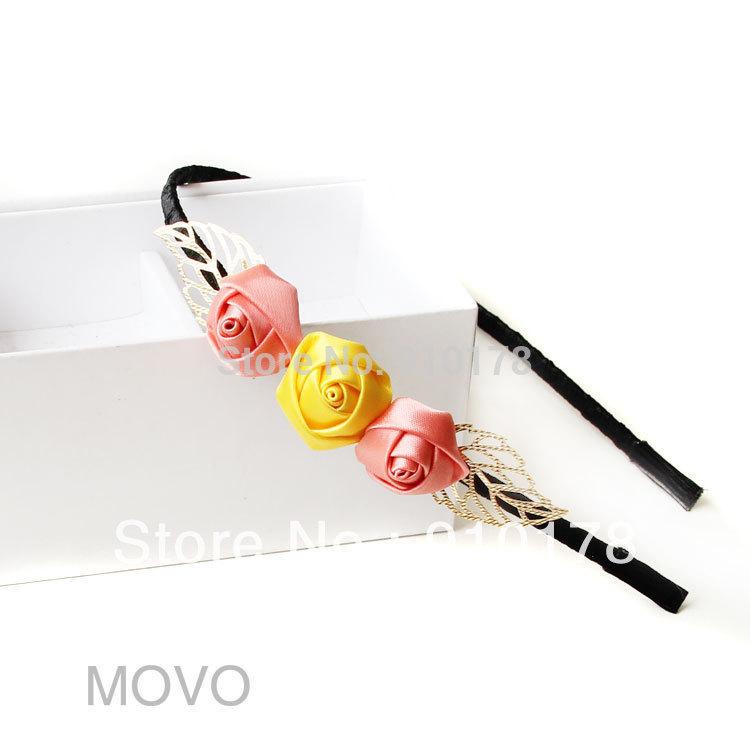 rose flower hair bands headwear fashion hair accessory pure handwork original design(China (Mainland))