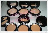 (10 pcs/lot)10pcs Free China Post Air Mail New makeup studio fix powder plus foundation 15g +powder puffs