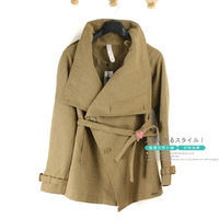 Women's spring and autumn fashion large lapel mm outerwear
