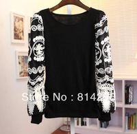 Free     shipping   Bud silk sleeves knit unlined upper garment