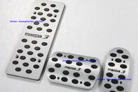 New Aluminium Alloy Foot Pedal Rest Plate   Mazda 3 AT Auto Transmission 3pcs