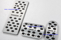 New Aluminium Alloy Foot Pedal Rest Plate   Mazda 3 AT Auto Transmission 3pcs