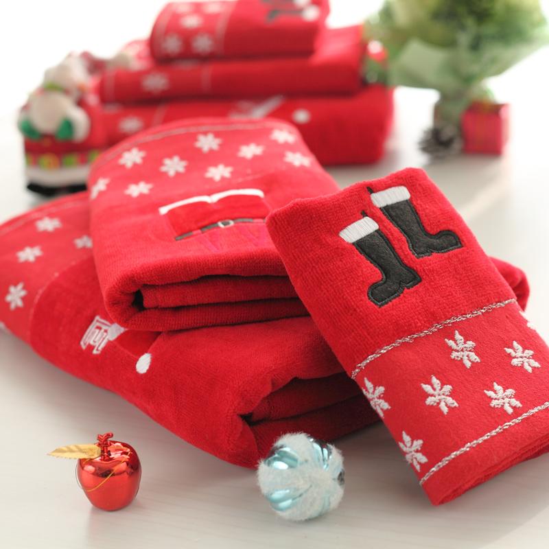 christmas hat bath towel towboats piece set towel set christmas gifts