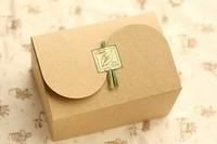 Plain kraft box elegant muffin packaging box  cake gift boxes food packaging