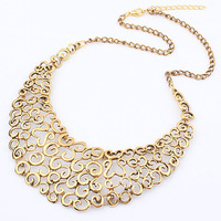 Min Order 15$ Free Shipping New Arrival Western Style Personality Hollow Chains Necklace Good Quality Wholesale Hot HG0081