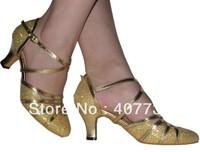 hot women's adult ballroom dancing shoes heel (6 or 8CM) latin dance shoes free shipping