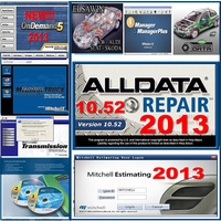 2013 11software alldata 10.52 + 2013 mitchell ondemand + ESI + ELSA Win + Mitchell ultramate Estimator+ Medium truck + HDD