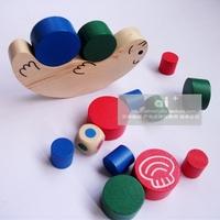Free Shipping Snail Balancing Wood Building Blocks Parent-Child Blocks Wooden Toy