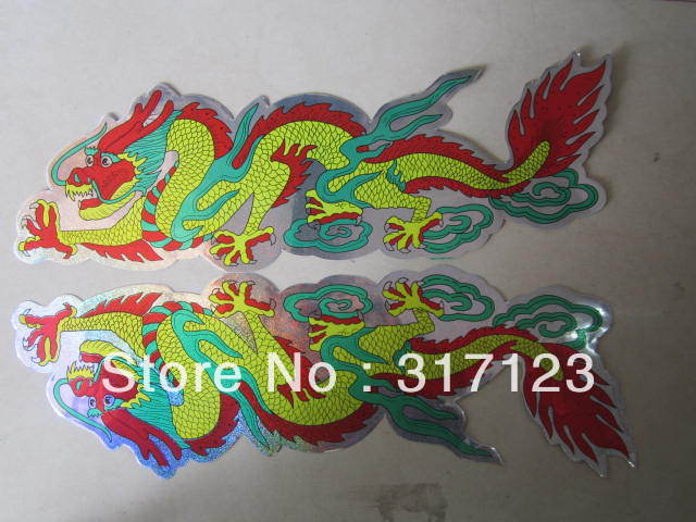Free shipping (100 pieces/lot)The dragon totem car holds the dragon body stickers door stick car garland full car stick(China (Mainland))