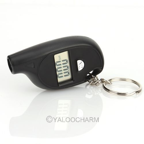 Mini Keychain Digital Tire Tyre Air Pressure Gauge For Car Auto Motorcycle 80443(China (Mainland))