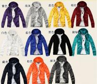 2014 Free shipping Promotion New fashion men's womens hooded coat sweatshirt outdoor fleece jackets sports wear