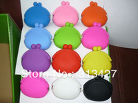 Free shipping,30pcs/lot,2012 Newest Hot sale round silicone coin purse for girls' gift,wholesale