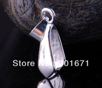 Free Shipping 200pcs/lot big face Silver Plated Pendant Pinch Bail 24mm, Jewelry Findings V3814