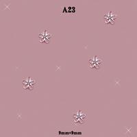 DIY 3D Alloy Rhinestones Jewelry Beads Flower Nail Art Glitter Decorations #A23