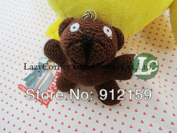 "Wholesale Discount Mr Bean Teddy Bear Plush Toy Keychain 3.5"" mini plush animals Bear Animal Stuffed 50pcs/Lot Free Shipping(China (Mainland))"