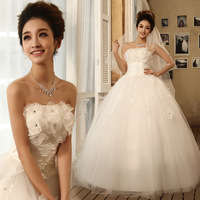 2013 embroidered lace slim tube top wedding dress qi in wedding hs6276